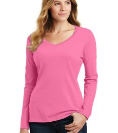 Port & Co LPC450VLS mpany   Ladies Long Sleeve Fan Favorite V-Neck Tee