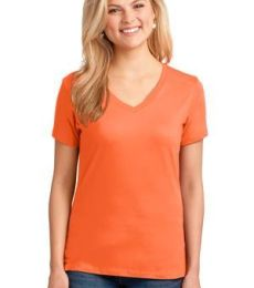 LPC54V Port & Company® Ladies 5.4-oz 100% Cotton V-Neck T-Shirt