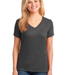 LPC54V Port & Company® Ladies 5.4-oz 100% Cotton V-Neck T-Shirt