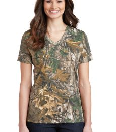 Russell Outdoor LRO54V s Realtree Ladies 100% Cotton V-Neck T-Shirt