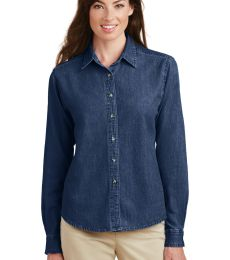 Port  Company Ladies Long Sleeve Value Denim Shirt LSP10