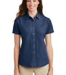 Port  Company Ladies Short Sleeve Value Denim Shirt LSP11