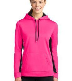 LST235 Sport-Tek® Ladies Sport-Wick® Fleece Colorblock Hooded Pullover