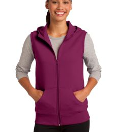 Sport Tek LST268 CLOSEOUT Sport-Tek Ladies Hooded Fleece Vest