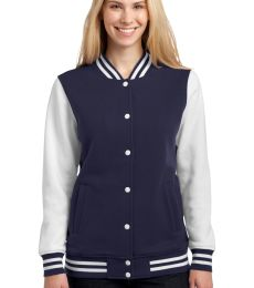 Sport Tek LST270 Sport-Tek Ladies Fleece Letterman Jacket