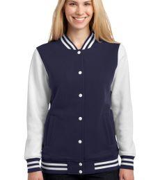 Sport Tek LST270 Sport-Tek Ladies Fleece Letterman Jacket