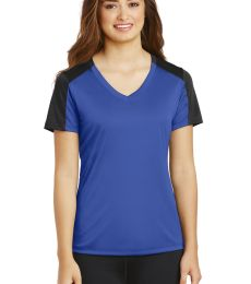 Sport Tek LST354 Sport-Tek Ladies PosiCharge Competitor Sleeve-Blocked V-Neck Tee