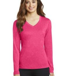 Sport Tek LST360LS Sport-Tek Ladies Long Sleeve Heather Contender V-Neck Tee