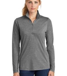 Sport Tek LST407 Sport-Tek  Ladies PosiCharge  Tri-Blend Wicking 1/4-Zip Pullover
