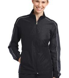 Sport Tek LST61 Sport-Tek Ladies Piped Colorblock Wind Jacket