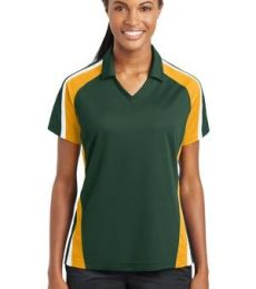 Sport Tek Ladies Tricolor Micropique Sport Wick Polo LST654