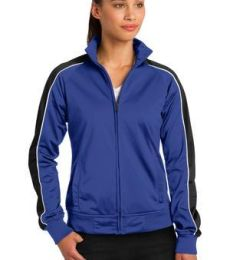 Sport Tek LST92 Sport-Tek Ladies Piped Tricot Track Jacket