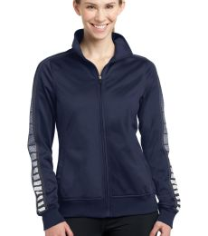 Sport Tek LST93 Sport-Tek Ladies Dot Sublimation Tricot Track Jacket
