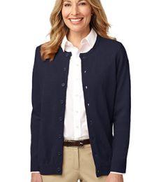 LSW304 Port Authority® Ladies Value Jewel-Neck Cardigan