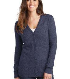 Port Authority Clothing LSW415 Port Authority  Ladies Marled Cardigan Sweater