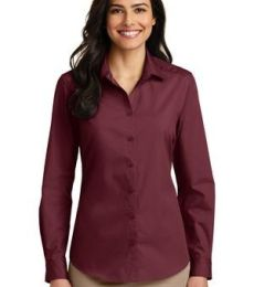 242 LW100 Port Authority Ladies Long Sleeve Carefree Poplin Shirt