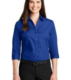 242 LW102 Port Authority Ladies 3/4-Sleeve Carefree Poplin Shirt