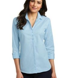 242 LW643 Port Authority Ladies 3/4-Sleeve Micro Tattersall Easy Care Shirt