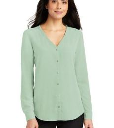 Port Authority Clothing LW700 Port Authority Ladies Long Sleeve Button-Front Blouse