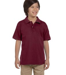 Harriton M200Y Youth 6 oz. Ringspun Cotton Piqué Short-Sleeve Polo