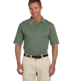 Harriton M210 Adult 6 oz. Short-Sleeve Piqué Polo with Tipping