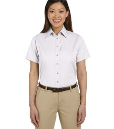 Harriton M500SW Ladies' Easy Blend™ Short-Sleeve Twill Shirt withStain-Release