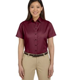 Harriton M500SW Ladies' Easy Blend™ Short-Sleeve Twill Shirt with Stain-Release