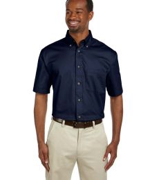Harriton M500S Men's Easy Blend™ Short-Sleeve Twill Shirt withStain-Release