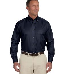Harriton M500T Men's Tall Easy Blend™ Long-Sleeve Twill Shirt with Stain-Release
