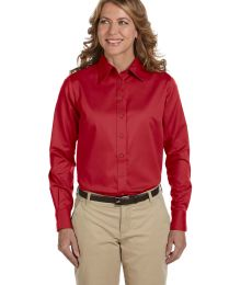 Harriton M500W Ladies' Easy Blend™ Long-Sleeve TwillShirt with Stain-Release