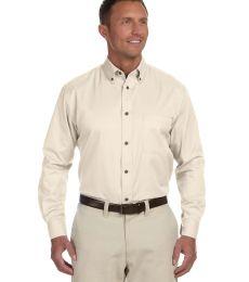 Harriton M500 Men's Easy Blend™ Long-Sleeve TwillShirt withStain-Release