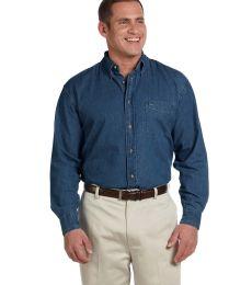 Harriton M550 Men's 6.5 oz. Long-Sleeve Denim Shirt