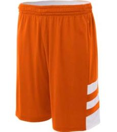 N5334 A4 Drop Ship Adult 10 Inseam Reversible Speedway Shorts