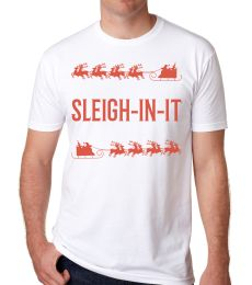 Sleigh-In-It Mens Printed Holiday Tee