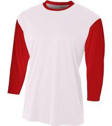 NB3294 A4 Drop Ship Youth 3/4 Sleeve Utility Shirt