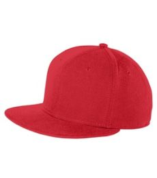 NE402 - New Era® Faux Wool Flat Bill Snapback Cap