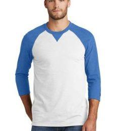 1001 NEA121 New Era  Sueded Cotton 3/4-Sleeve Baseball Raglan Tee
