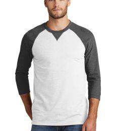 1001 NEA121 New Era  Sueded Cotton 3/4-Sleeve Baseball Raglan Tee