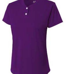 NG3143 A4 Drop Ship Girl's Tek 2-Button Henley Shirt