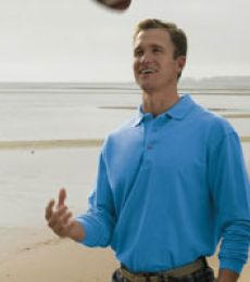 Outer Banks® Essential Long Sleeve Pique Polo