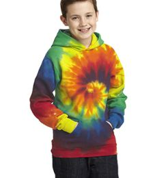 PC146Y Port & Company® Youth Essential Tie-Dye Pullover Hooded Sweatshirt