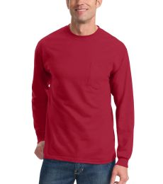 Port  Company Long Sleeve Essential T Shirt with Pocket PC61LSP
