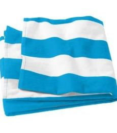 Port Authority PT43 Port & Company   Cabana Stripe Beach Towel