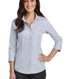 Red House RH690   Ladies 3/4-Sleeve Nailhead Non-Iron Shirt