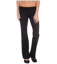 A16 In Your Face Apparel Fold Over Yoga Pant