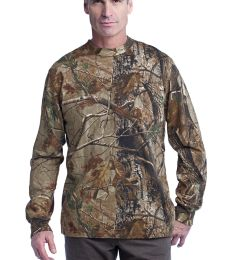 Russell Outdoors 8482 Realtree Long Sleeve Explorer 100 Cotton T Shirt with Pocket S020R