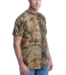 Russell Outdoors 8482 Realtree Explorer 100 Cotton T Shirt with Pocket S021R