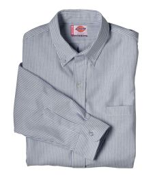 SS36 Dickies Long Sleeve Button Down Oxford