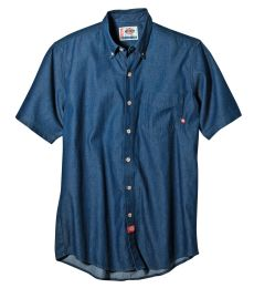 WS300 Dickies Short Sleeve Button Down Denim Shirt