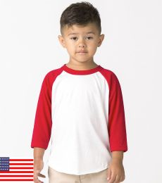 Los Angeles Apparel FF1053 / Toddler Raglan